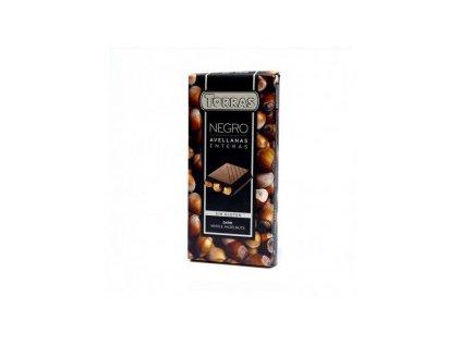 torras horka cokolada 70 s celymi liskovymi orechy 200g