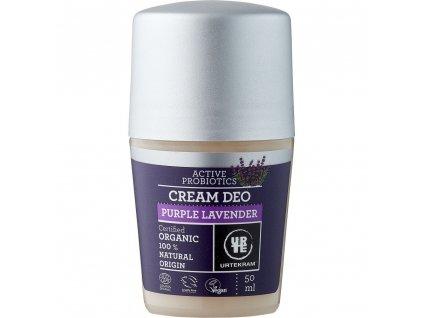 deodorant roll on kremovy levandule bio veg urtekram 50ml 0