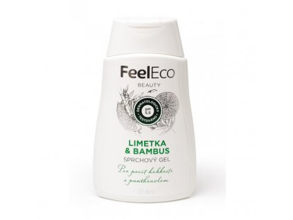 feel eco sprchovy gel limetka a bambus zelenadomacnost