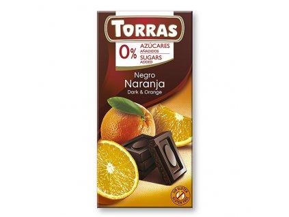 torras horka cokolada s pomerancem 75 g