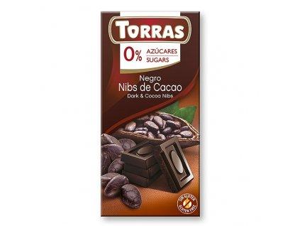 torras horka cokolada s kakao boby 75 g