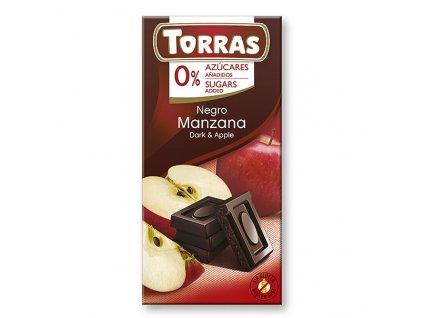 torras horka cokolada s jablkem 75 g
