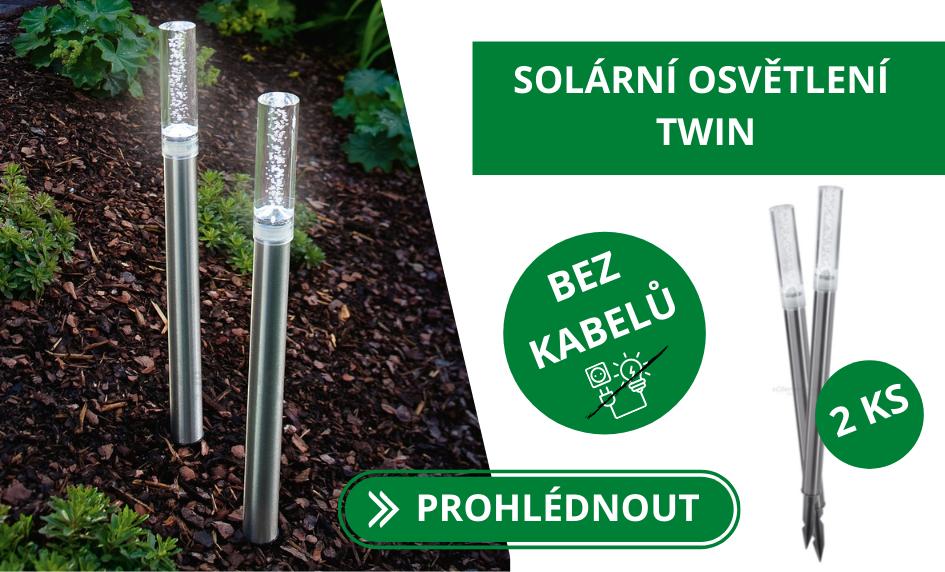Solární desingové osvětlení Esotec TWIN 1