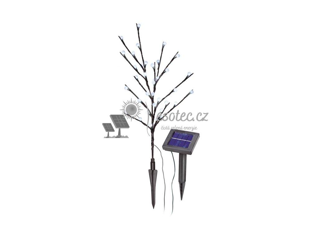 Solární světelný strom Esotec 36 LED - bílý, svítící kuličky
