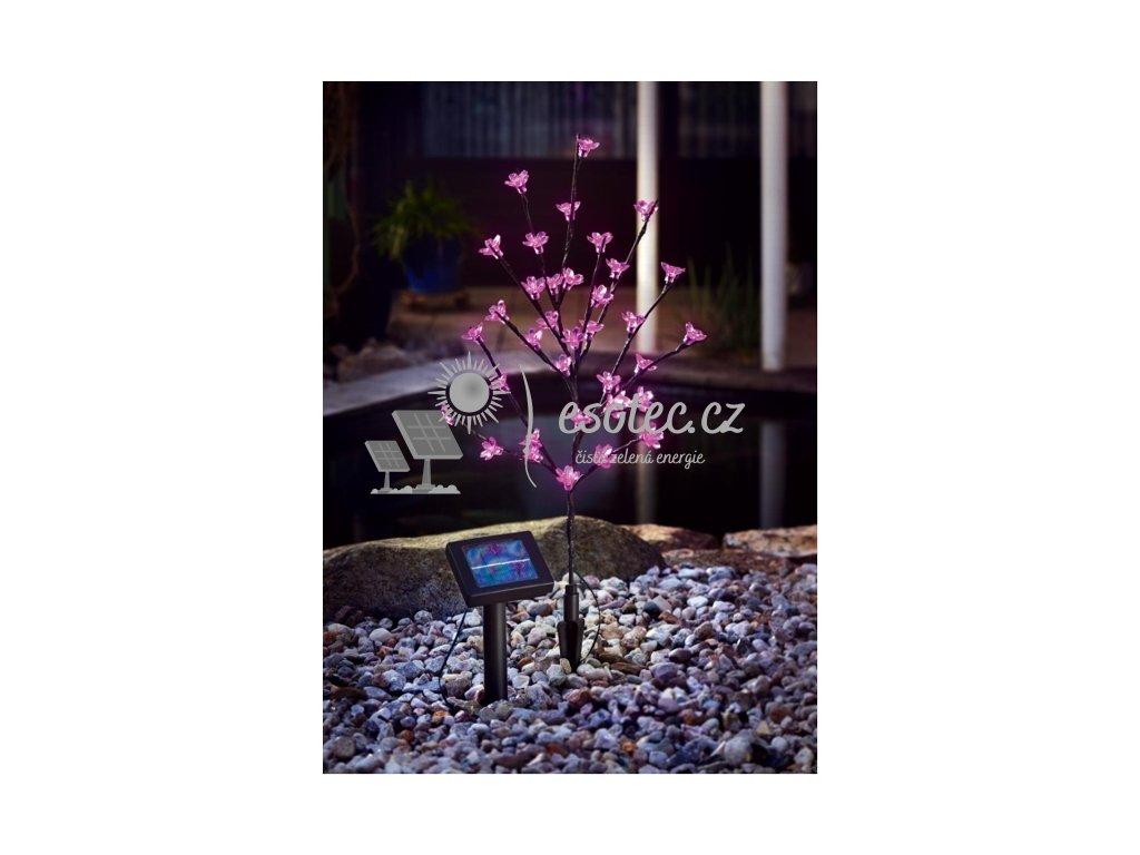 Solární světelný strom Esotec 36 LED růžový - svítící květiny