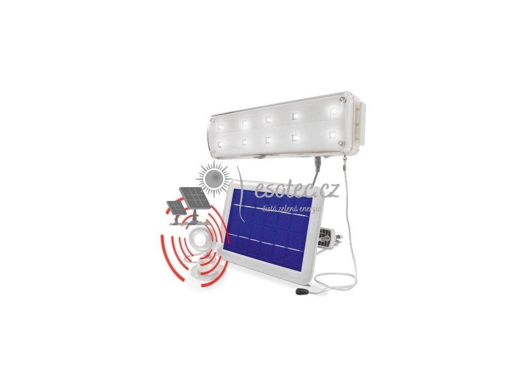 Esotec solární 10 LED systém s PIR