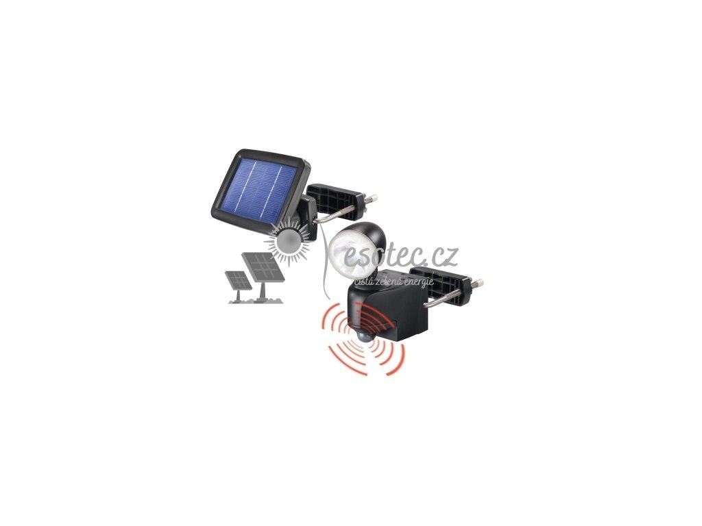 Solární osvětlení Esotec PIR - černé