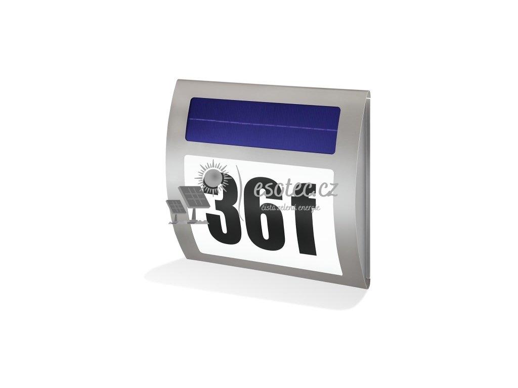 Solárni osvětlení domovního čísla Esotec Wave - studená bílá