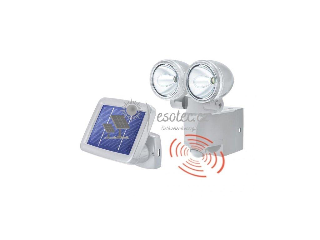 Solární osvětlení Esotec PIR DUO šedé