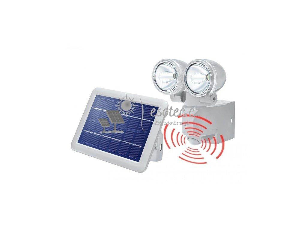 Solární osvětlení Esotec PIR DUO POWER II šedé
