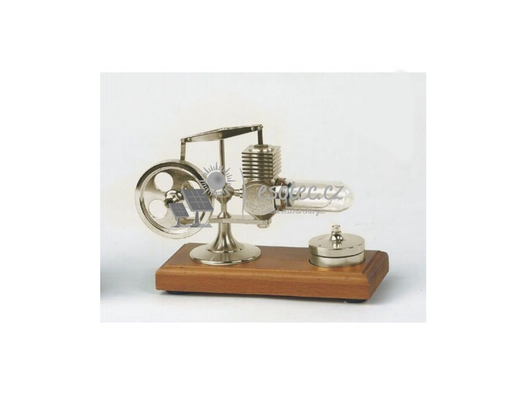 Micro Stirlingův motor - stříbrný