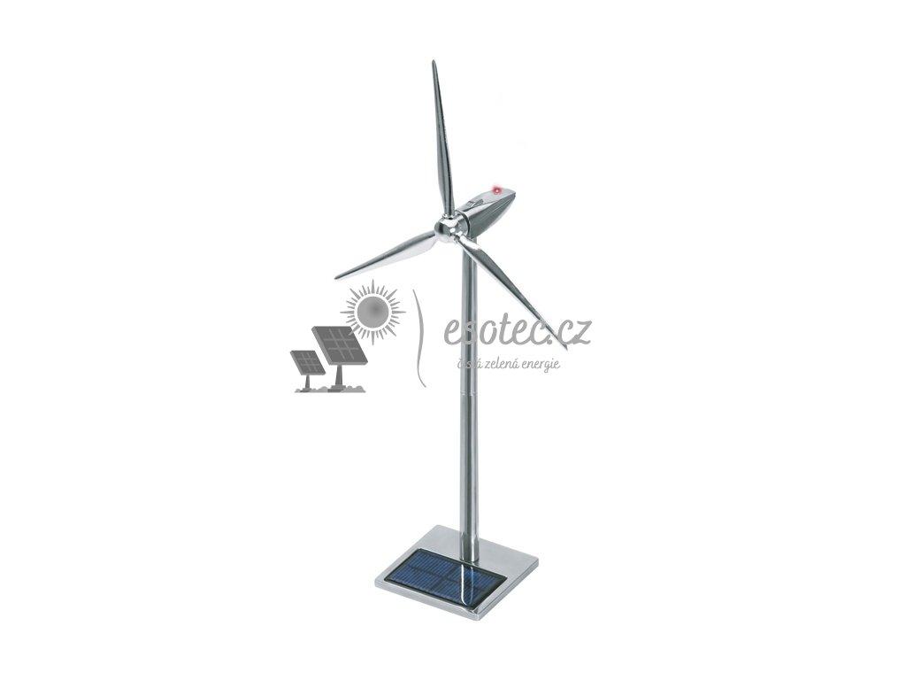 Solární větrná turbína hliníková s LED 50 cm