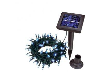 Kvalitní solární světelný řetěz Esotec - 100 LED modrý, svítící kuličky