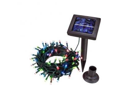 Kvalitní solární světelný řetěz Esotec -100 LED barevný, svítící kuličky