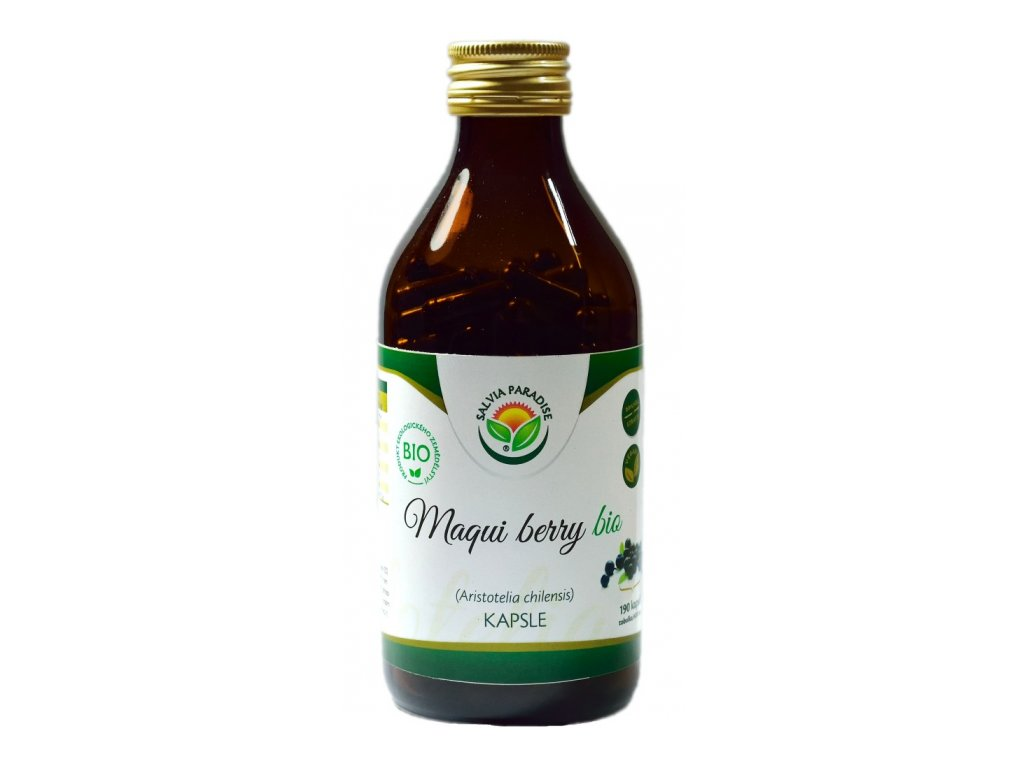 Maqui berry kapsle Bio, mrezem sušené 190 ks