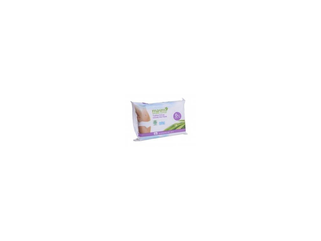 Intimní vlhčené ubrousky z organické bavlny MASMI MA298