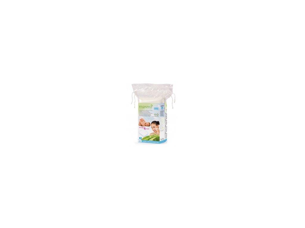 Čtvercové čistící polštářky z organické bavlny Masmi MA61