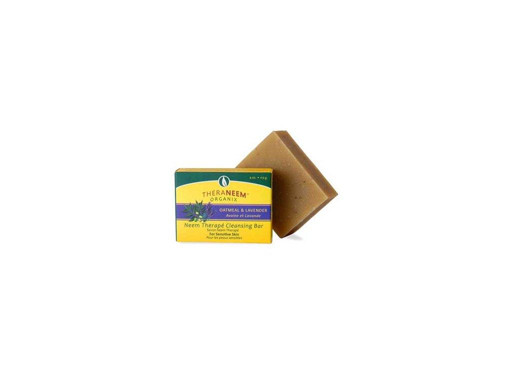 Nimbové mýdlo s ovsem a levandulovým olejem, TheraNeem™ 113 g