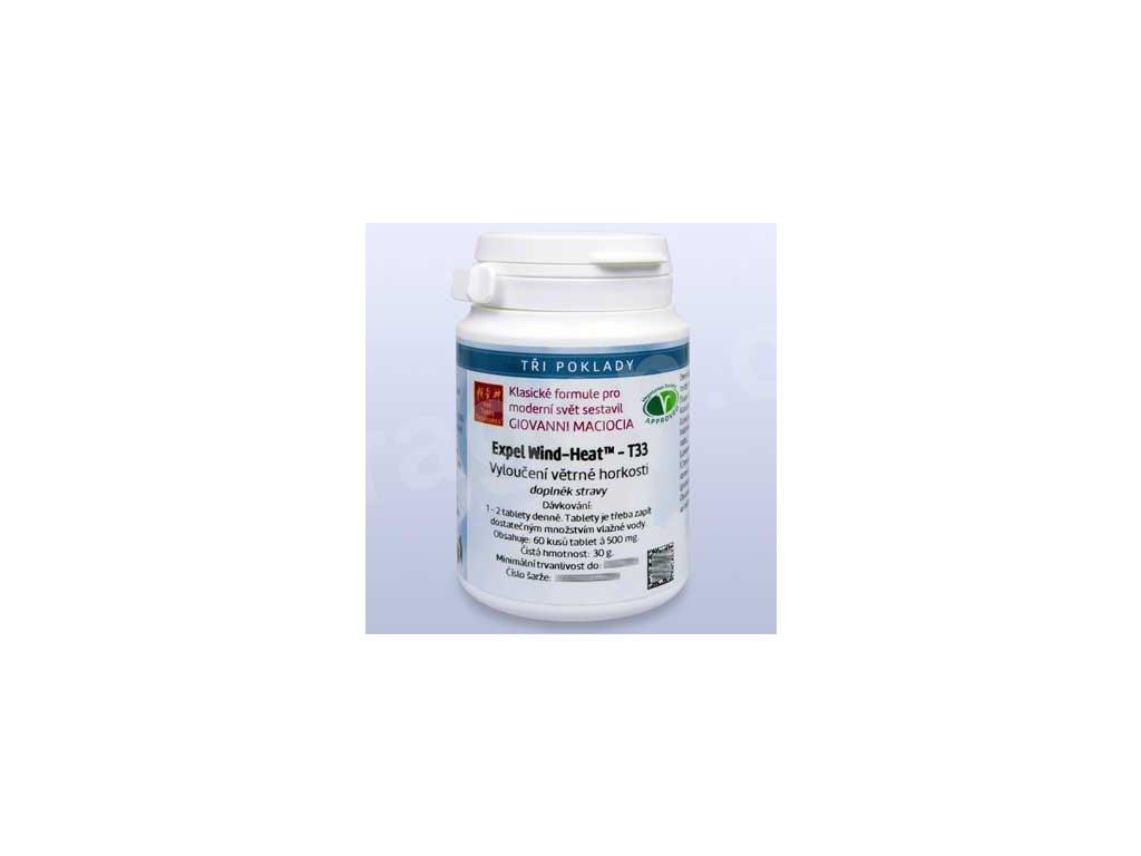 T33 - Vyloučení větrné horkosti (Expel Wind-Heat) (tablety)