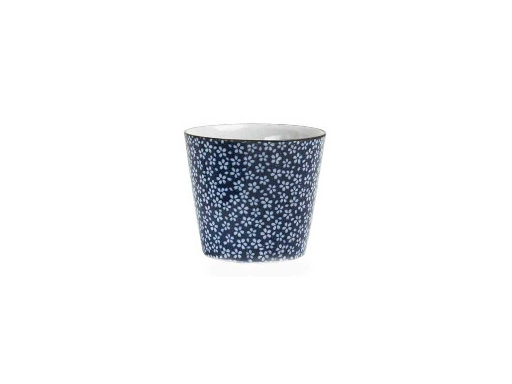 cajovy pohar kvetiny blue