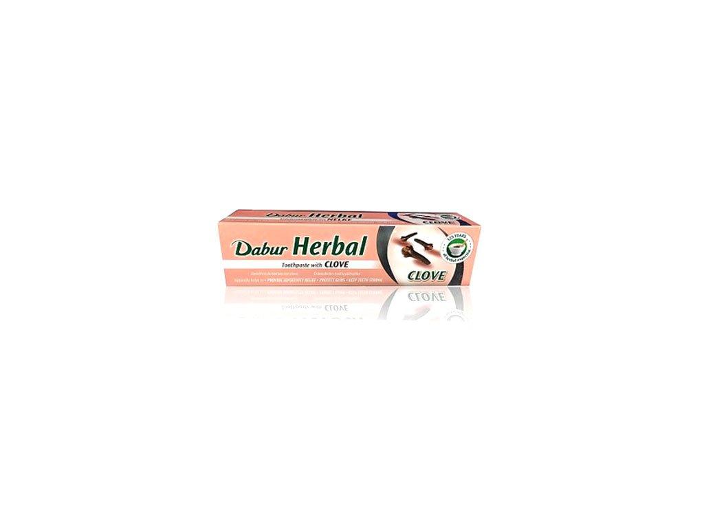 Zubní pasta s hřebíčkem bez cukru a barviv Dabur 155g, 100ml