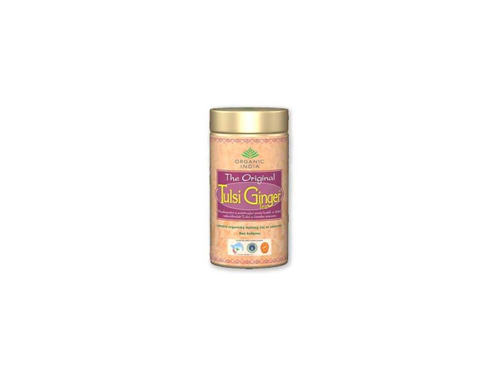TULSI GINGER TEA čaj Bio, Plech 100g