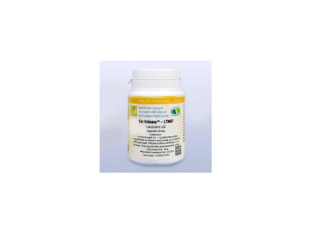 Uvolnění uší – keli/rozpustné granulky LTN07 30g