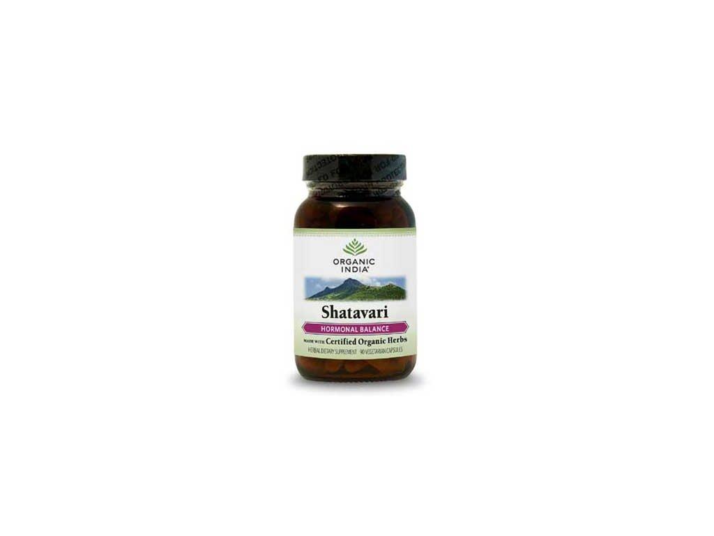 Šatavari Bio hormonální systém Organic India 60 kapslí