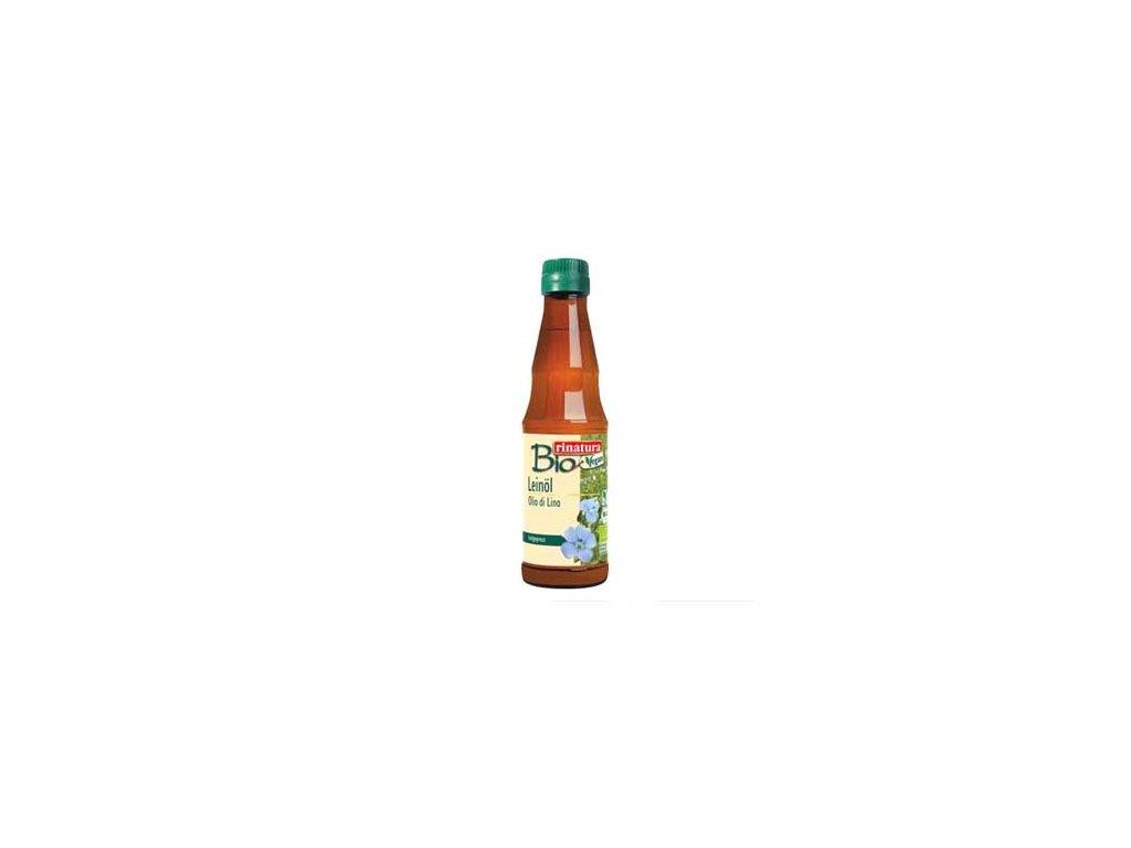 Bio Lněný olej za studena lisovaný, Rinatura 250ml