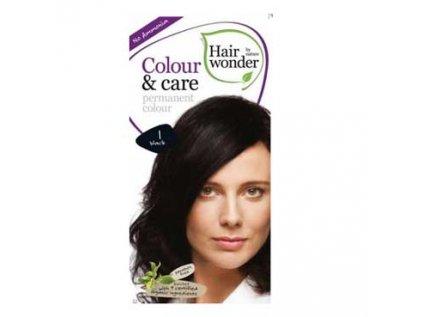 Přírodní dlouhotrvající barva Černá 1 Hair wonder 100ml