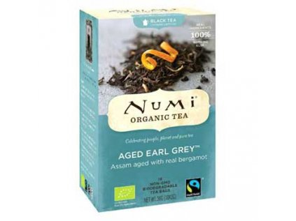 NUMI čaj Bio Earl Grey s bergamotem 18 sáčků