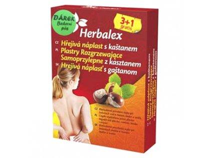 Hřejivé náplasti s kaštanem 3+1GRATIS Herbalex