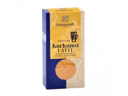 Kurkuma Latte-vanilka bio 60g krabička Pikantní kořeněná směs