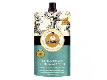 Tekuté mýdlo 3v1, šampon s bílým bahnem Lázně Agáthy (Agafji) 100ml