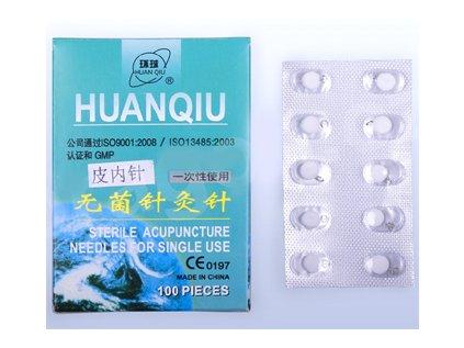 Akupunkturní jehly Huanqiu - ušní 0,22x5mm (bez náplasti)