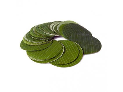 Banánové listy čerstvé, řezané ø 20 - 30 cm, (cca 50ks) 500g