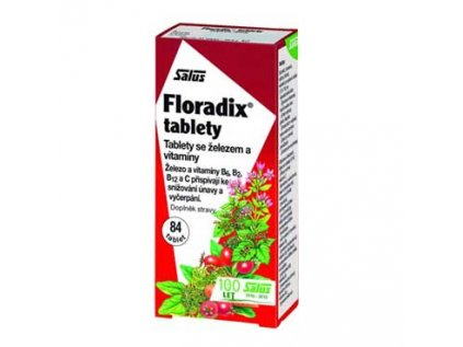 Floradix - Železo s vitamíny 84 tablet