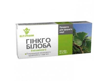 Extrakt Ginkgo biloba s vitamínem C a rutinem Elit Pharm 40 tablet