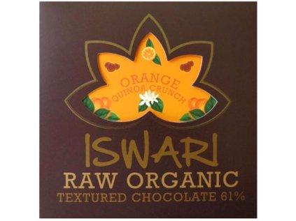 Raw BIO čokoláda Orange Quinoa Crunch 75g Iswari