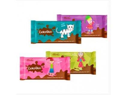 ČOKOŠKA - mléčná čokoláda pro děti Carla 20g