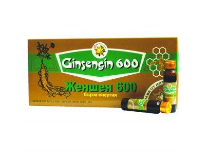 Ženšen čistý ampule 600 mg 10x10ml
