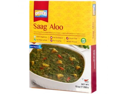 Hotové karí, Brambory se špenátem a indickým kořením - Saag Aloo Ashoka 280g