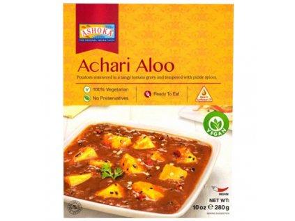 Hotové karí, Brambory v rajčatové omáčce a pikantním kořením - Achari Aloo Vegan Ashoka 280g