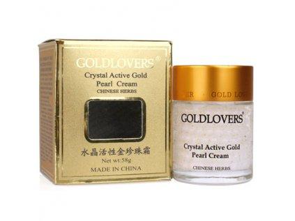 Ženšenový krém s Reishi a krystalky zlata Jinbolaisi Goldlovers 58g