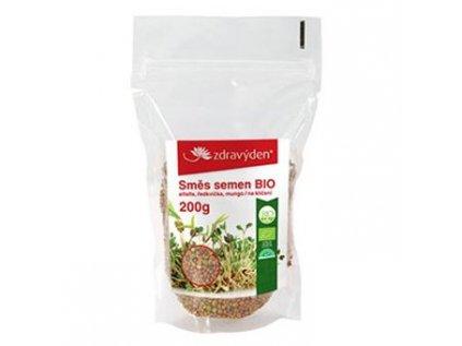 Směs semen na klíčení BIO alfalfa, ředkvička, mungo 200g