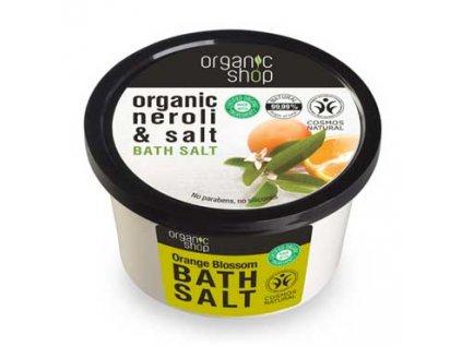 Sůl do koupele - Pomerančové květy Organic Shop 250g