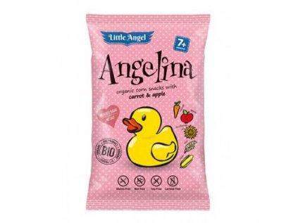 Little Angel Angelina Bio Snack kukuřičný Angelina mrkev a jablko 4x15g