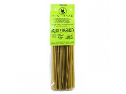 Pasta Aglio & basilico, Těstoviny Česnek & bazalka, Centonze 250g