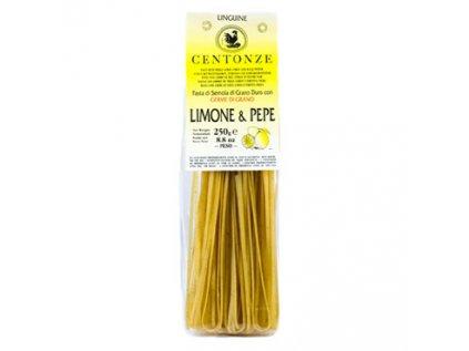 Pasta Limone & pepe, Těstoviny Citrón & černý pepř Centonze 250g