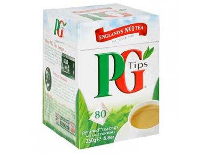 PG Tips černý čaj sáčky, tradiční anglický čaj 80 pyramidek, 250g